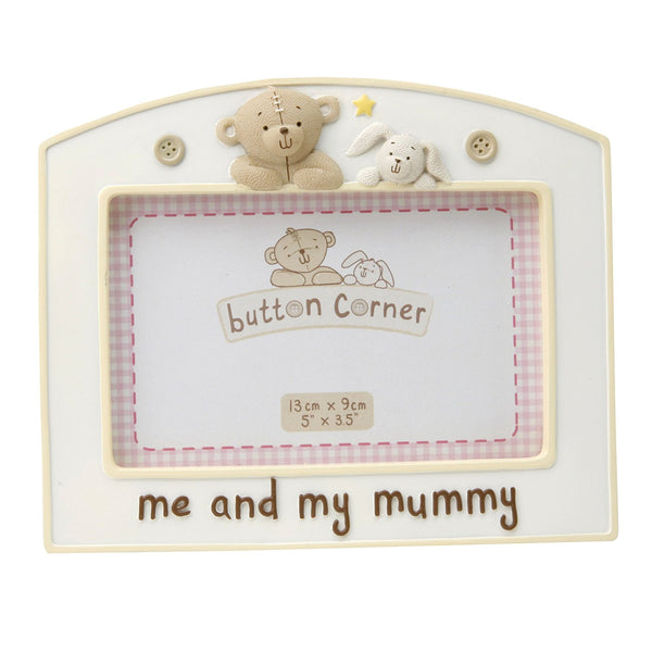 Button Corner Me And My Mummy Photo Frame - hanrattycraftsgifts.co.uk