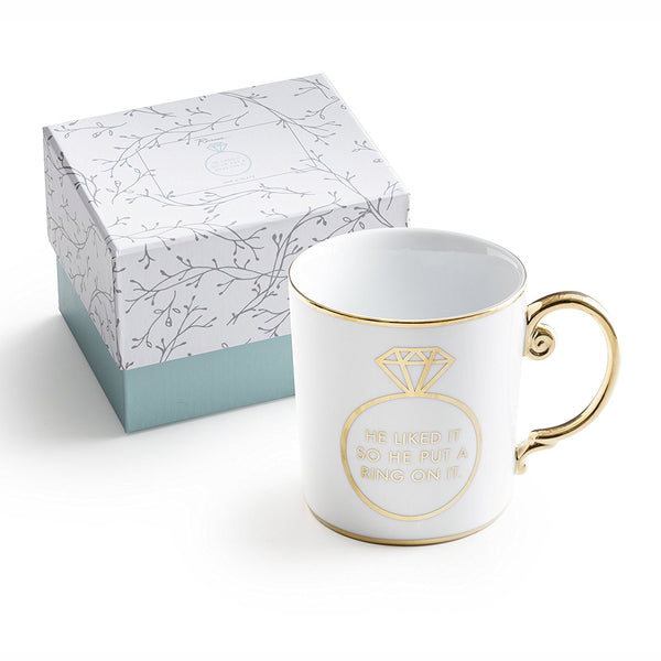 Gift For Her Wedding or Engagement Rosanna Porcelain and Gold Mug Gift - hanrattycraftsgifts.co.uk