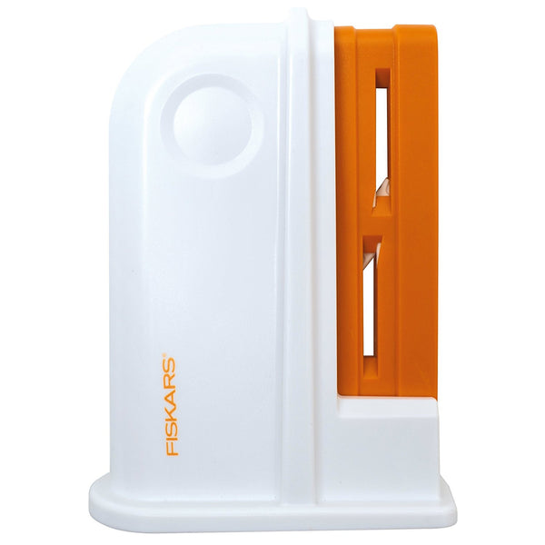 Fiskars Universal Scissor Sharpener, Plastic, Orange/White