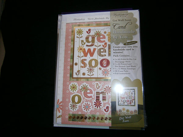 hunkydory handmade by you card kit get well soon - hanrattycraftsgifts.co.uk
