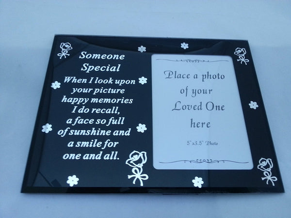 SOMEONE SPECIAL MIRROR MEMORIAL PHOTO FRAME - hanrattycraftsgifts.co.uk