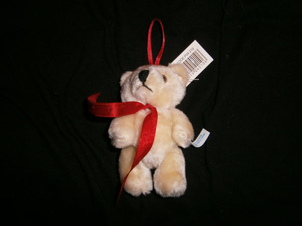 small hinged bear with red ribbon 11cms x8cms 2 supplied - hanrattycraftsgifts.co.uk