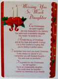 Daughter Grave Card - Christmas Memorial Grave Card - hanrattycraftsgifts.co.uk