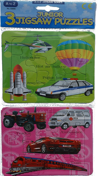 Pack of 3 Junior jigsaw puzzles - hanrattycraftsgifts.co.uk