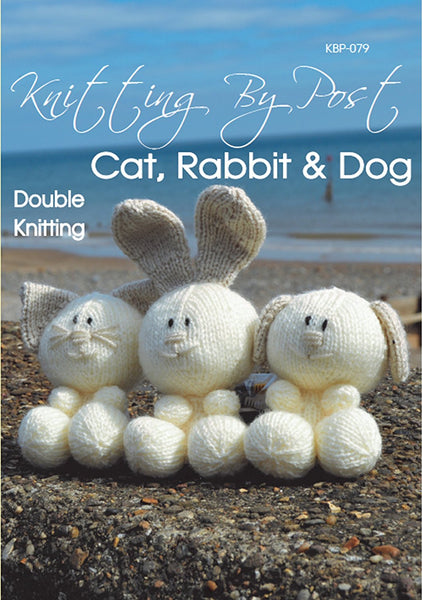 Knitting Pattern Rabbit, Cat and Dog - hanrattycraftsgifts.co.uk