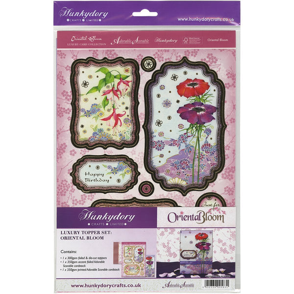 hunkydory a luxury topperset oriental bloom - hanrattycraftsgifts.co.uk