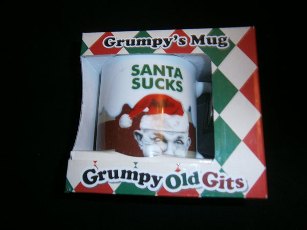 grumpys mug santa sucks - hanrattycraftsgifts.co.uk
