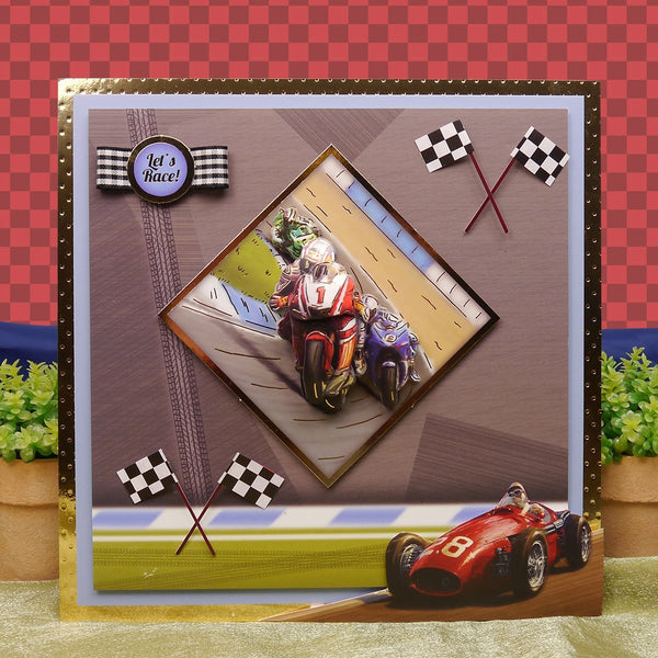 Sports & Leisure Adorable Scorable Luxury Decoupage Set A4-Start Your Engines & Ready, Steady, Go! - hanrattycraftsgifts.co.uk