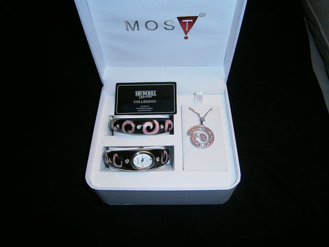 moss t watch necklace bracelit gift set most glam gift set - hanrattycraftsgifts.co.uk