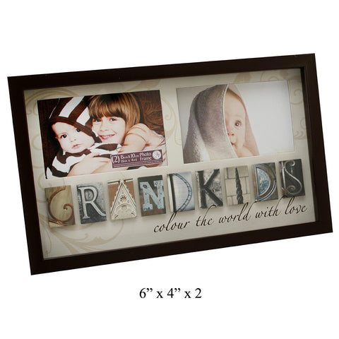 "Bubble Tile MDF Photo Frame - ""GRANDKIDS"""