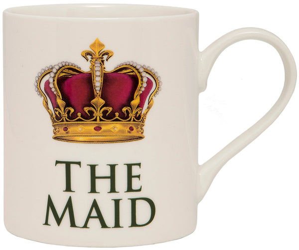The Leonardo Collection The Maid Novelty Gift Boxed Mug, White - hanrattycraftsgifts.co.uk