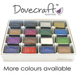 Dovecraft Pigment Ink Pad COPPER colour Rubber stamping - hanrattycraftsgifts.co.uk