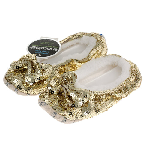 Childrens Kids Gold Bling Ballerina Snoozies Medium - hanrattycraftsgifts.co.uk