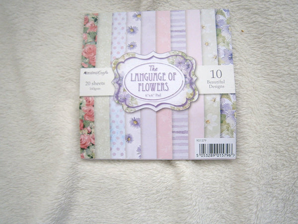 crafters 6x6 card pad 20sheets pads 10designs - hanrattycraftsgifts.co.uk