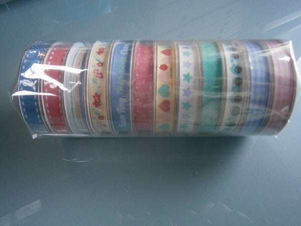 mixed creative ribbons tatty teddy 12 pack - hanrattycraftsgifts.co.uk
