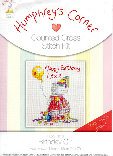 Counted cross stitch kit (BIRTHDAY CANDLES) by Humphrey's Corner - hanrattycraftsgifts.co.uk