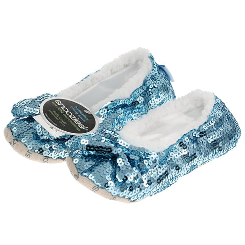 Childrens Kids Blue Bling Ballerina Snoozies Medium - hanrattycraftsgifts.co.uk