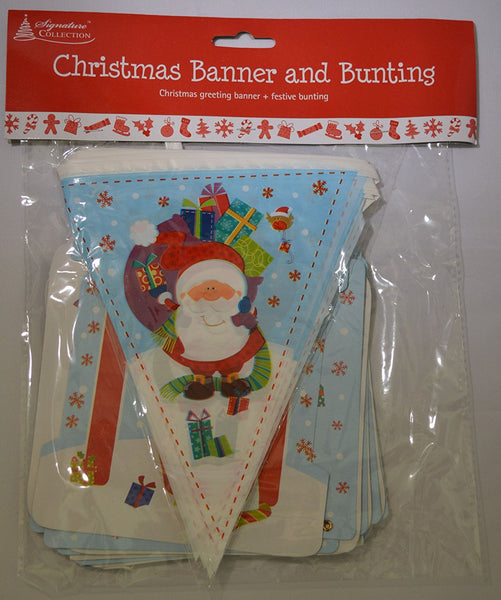 Christmas Banner and bunting - hanrattycraftsgifts.co.uk