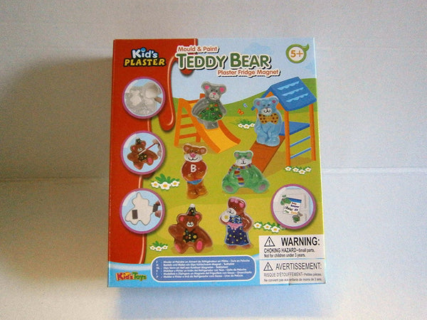 mould & play plaster fridge magnet teddy bear