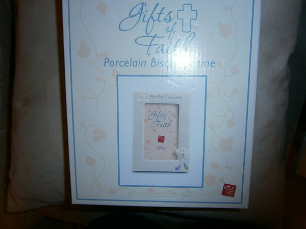 gifts of faith porcelain bisque frame first holy communion - hanrattycraftsgifts.co.uk