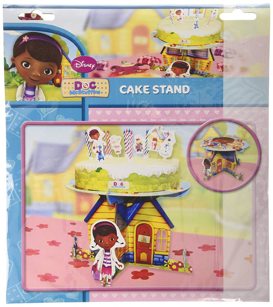 Amscan Doc McStuffins Cake Stand with Characters Party Accessory
