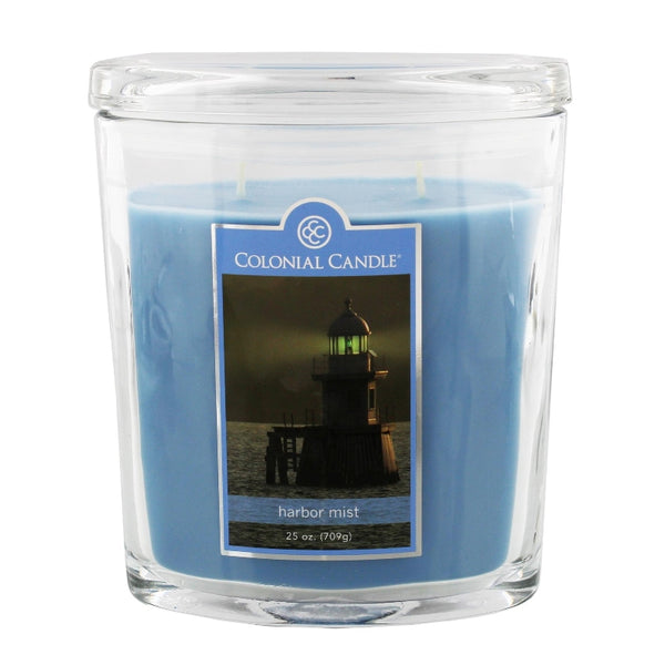 Colonial Candle 25oz Glass Jar Harbour Mist Candle - hanrattycraftsgifts.co.uk