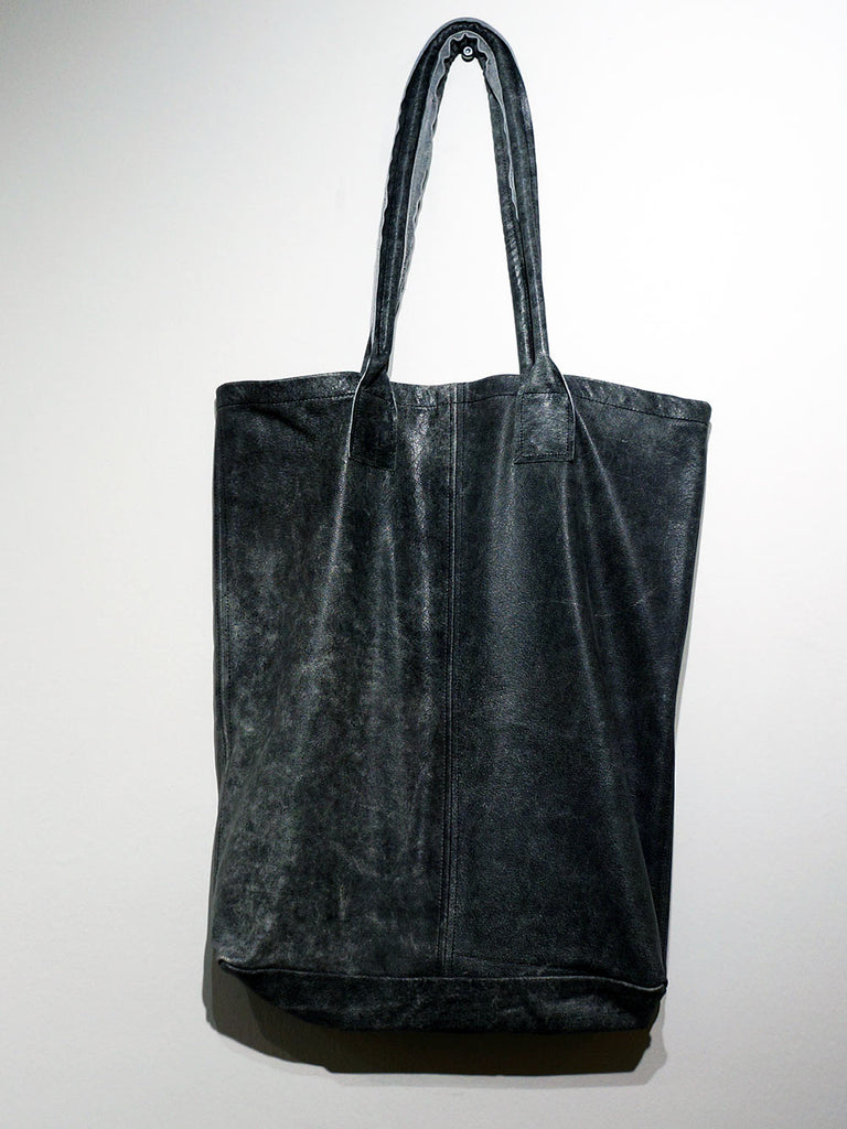Black by K&M Grey Leather Totebag
