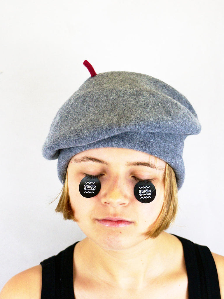 Kopka Felix Roll Up Beret Heather Grey
