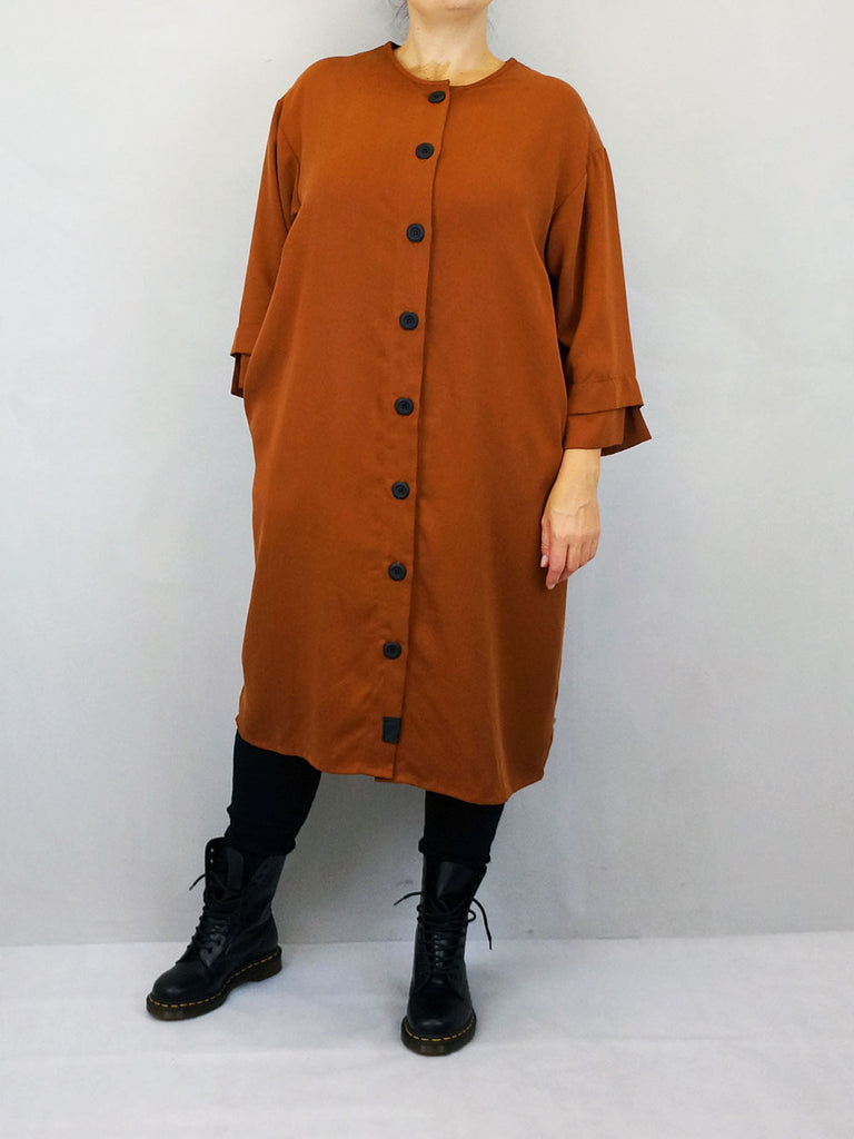 Liselotte Hornstrup Button Dress Rust