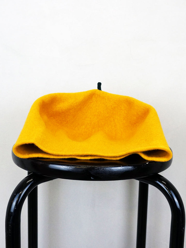 Kopka Felix Roll Up Beret Gold/Yellow