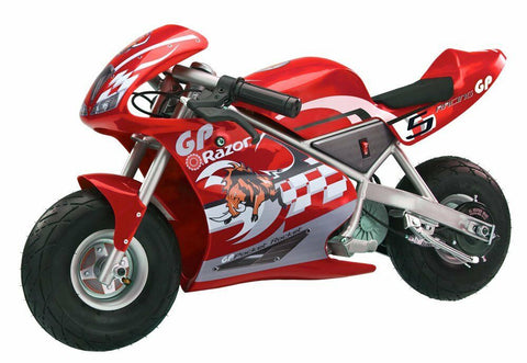 Razor Pocket Rocket 24 V Kids Mini Bike 15 MPH Ride On Electric Motorcycle
