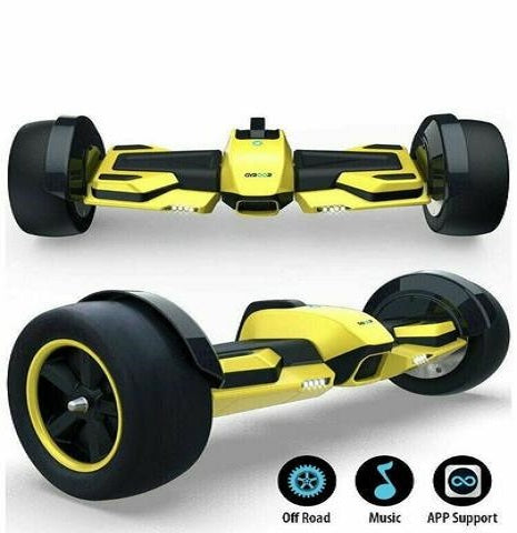 "Gyroor F1 Hoverboard Electric Scooter 8.5"" Self Balancing Scooter UL2272 Yellow"