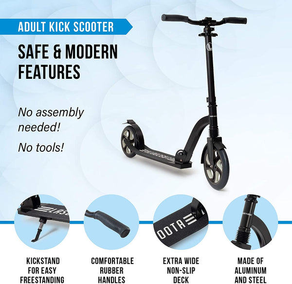 Lascoota Scooters for Kids 8 Years and up - Quick-Release Folding  Dual Suspension
