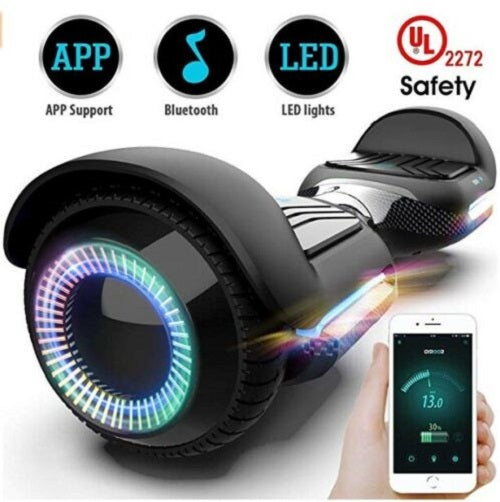 Gyroor T580 with Music Speaker LED Lights, for Kids Adult UL2272 Certificated