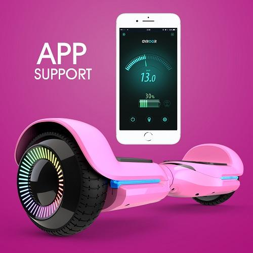 Gyroor T580 Hoverboard Self Balancing Scooter  Music Speaker LED Lights 6.5 inch