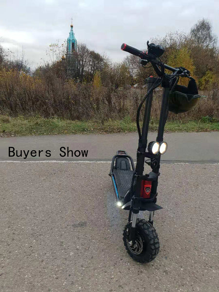 Kaabo Wolf Warrior 11 Foldable 2400W Motor Electric Scooter Black