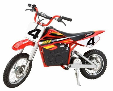 Razor MX500 Dirt Rocket High-Torque Electric Motorcycle Dirt Bike, 15 MPH