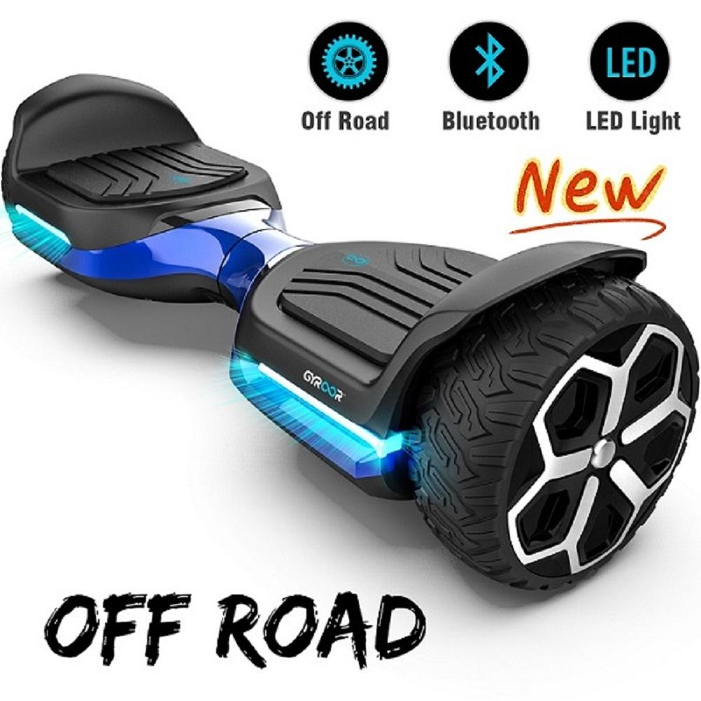 "Gyroor 6.5""T581 Hoverboard Off Road Bluetooth LED Lights Self Balancing Scooter"