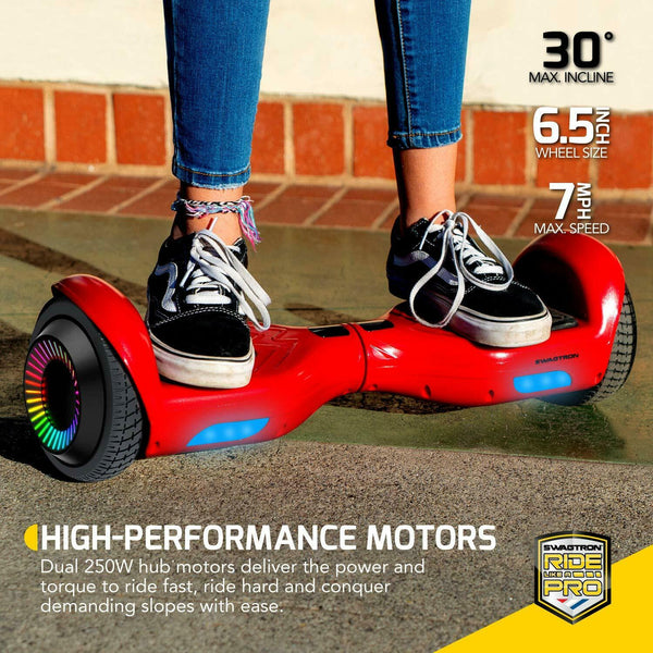 "Swagtron T881 Twist Hoverboard w/ LED 6.5"" Wheels Lithium-Free Dual 250W Motors"