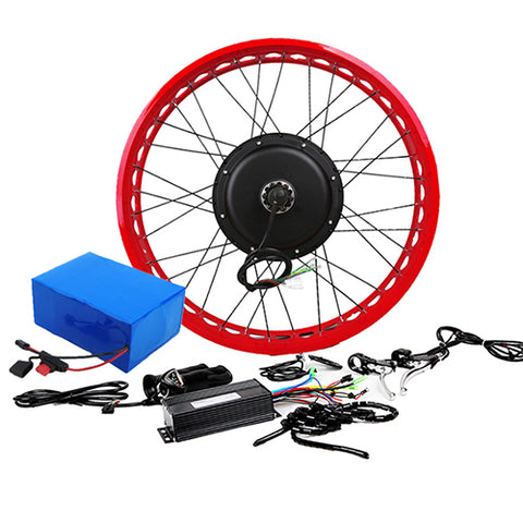 72V 5000W Gearless  Conversion Kits Optional  Front Rear Wheel  Motor Battery Speed