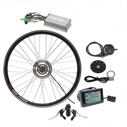36V 400W Geared  Conversion Kits Optional  Front Rear Wheel  Motor Battery Speed
