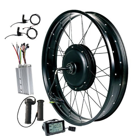 72V 3000W Gearless  Conversion Kits Optional  Front Rear  Wheel  Motor Battery Speed