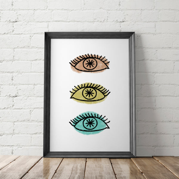 Bohemian Evil Eye Art Printable