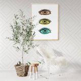 EYES / Art Printable - Little Gold Pixel