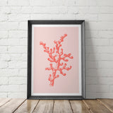 FIRE CORAL art printable - Little Gold Pixel