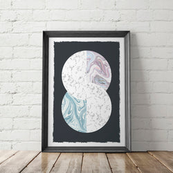Marble Circles No. 2 Art Printable