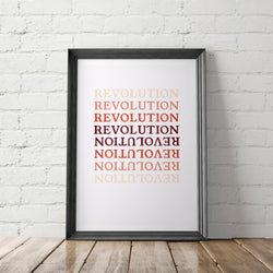 REVOLUTION art printable - Little Gold Pixel