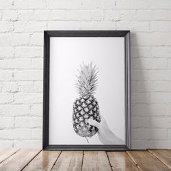 Pineapple B&W Photo Art Printable - Little Gold Pixel