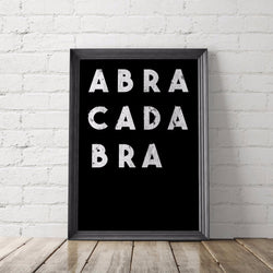 ABRACADABRA art printable - Little Gold Pixel