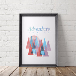 ADVENTURE AWAITS art printable - Little Gold Pixel